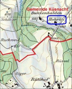 Karte 2010 Hohrüti-Hochrüti-Rütihof