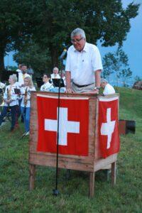 Einführung Gemeindepräsident Walter Wittmer - 1. August 2017