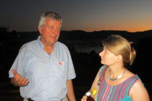 Walter Wittmer mit Rednerin Philippa Schmidt vom Küsnachter - 1. August 2013