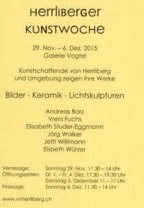 Flyer - Herrliberger Kunstwoche 2015