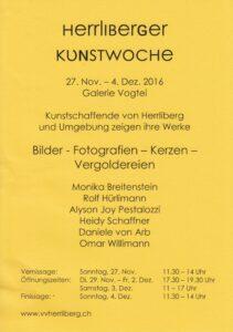 Flyer - Herrliberger Kunstwoche 2016