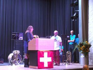 Rednerin Jacqueline Badran Toni Peterer 1.August 2020